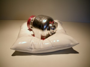 Fake Electric Motor on a Fake Pillow with Fake Silver Leaf