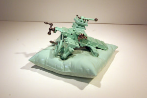 Ceramic pillow with carriage assembly